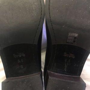 Coach Shoes - Black leather COACH Ankle Boots